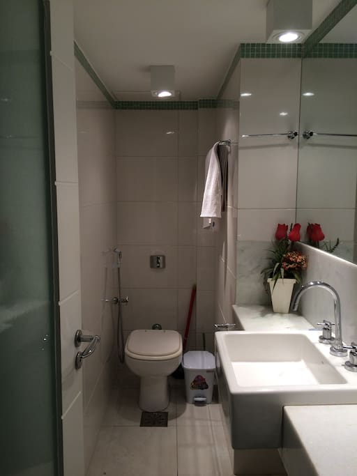Private bathroom with big shower