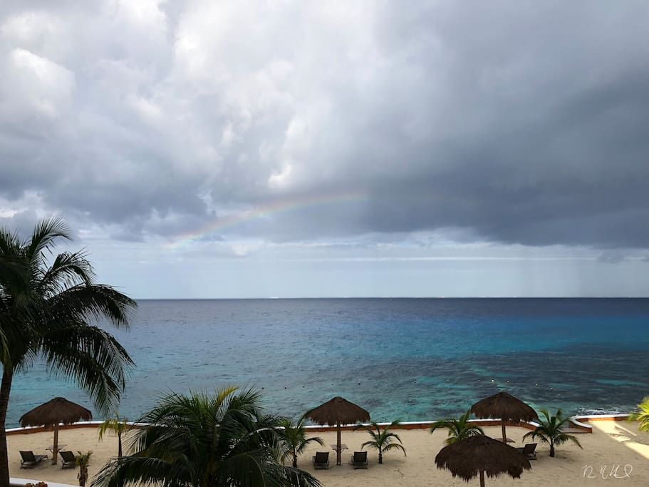 Beautiful Caribbean Channel views from the condo.