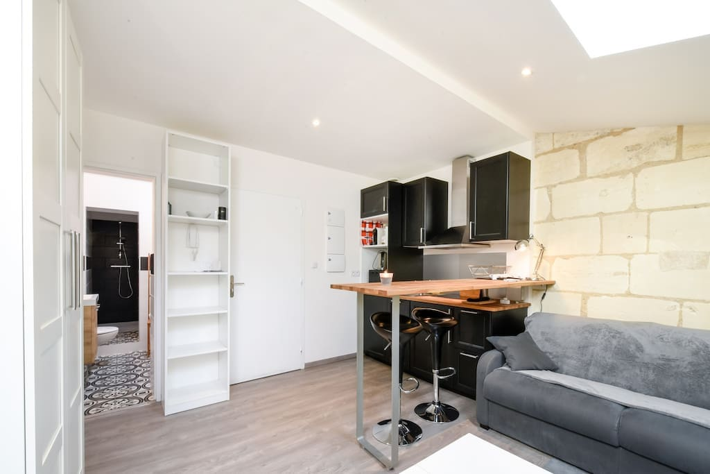 Studio cosy sur les quais de saint michel appartements for Studio bordeaux a louer