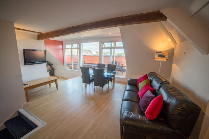 Panoramic views of City, Cathedral and River Exe - Exeter - Appartement