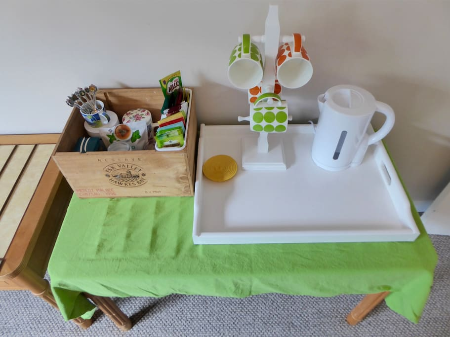 Tea and coffee available in the privacy of your bedroom