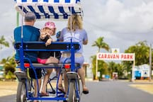 Hire one of these bikes from the Kurrimine Beach Holiday Park and take your family for a ride along the beachfront track.   At just $10 per hour we reckon this offers great value family fun.