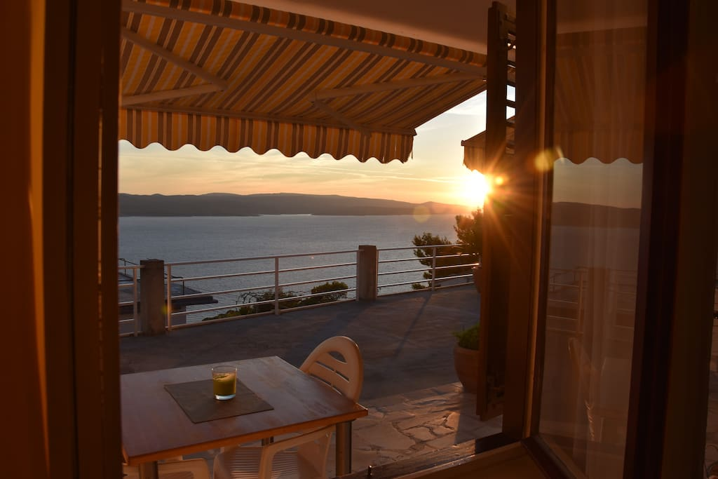 Enjoy the sunset from your room