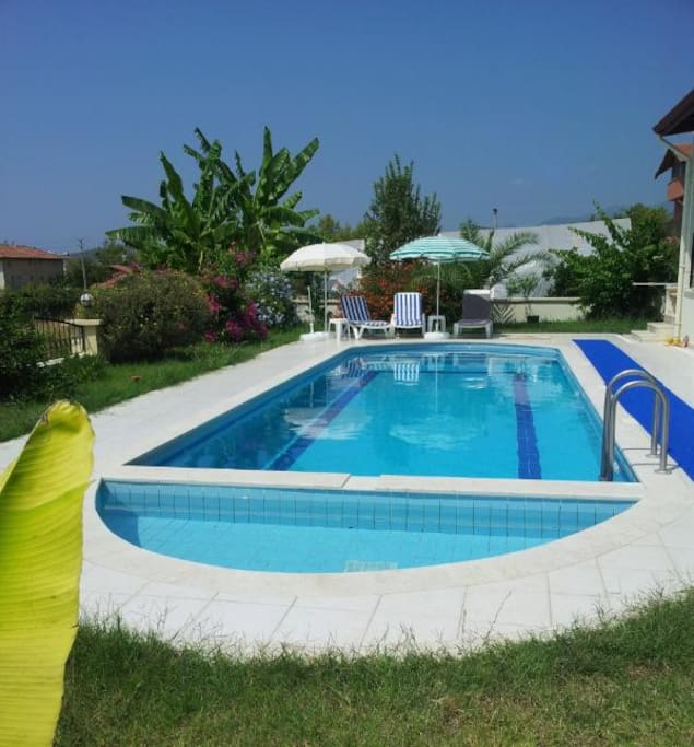 Large and private swimming pool (11 mts in length).