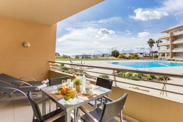 Albufeira, appartement pieds dans l'eau, vue mer - Albufeira - Apartamento