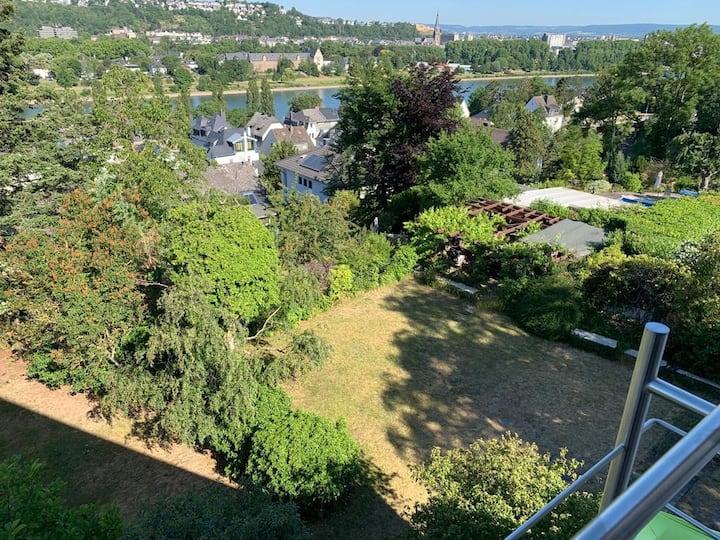 Apartment Rheinblick mit großer Aussichts-Terrasse
