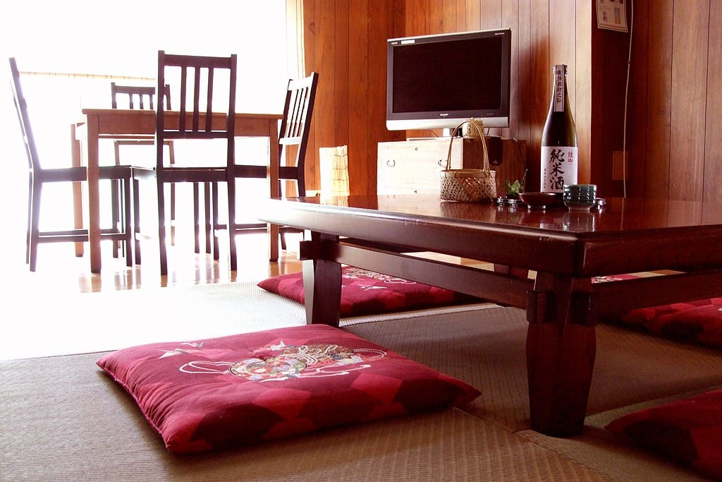 Please relax with Tatami and japanese  cushion