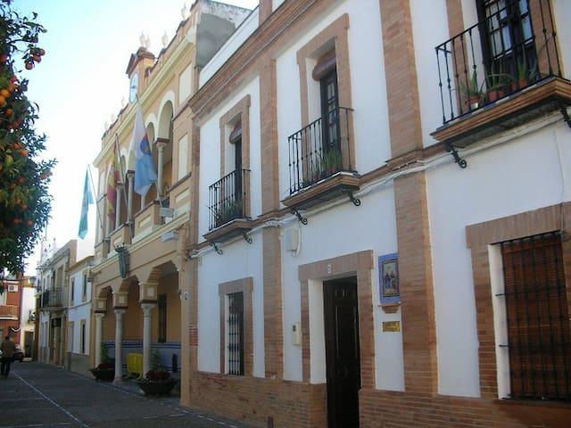 Alojamientol a 9 Km de Sevilla en casa señorial