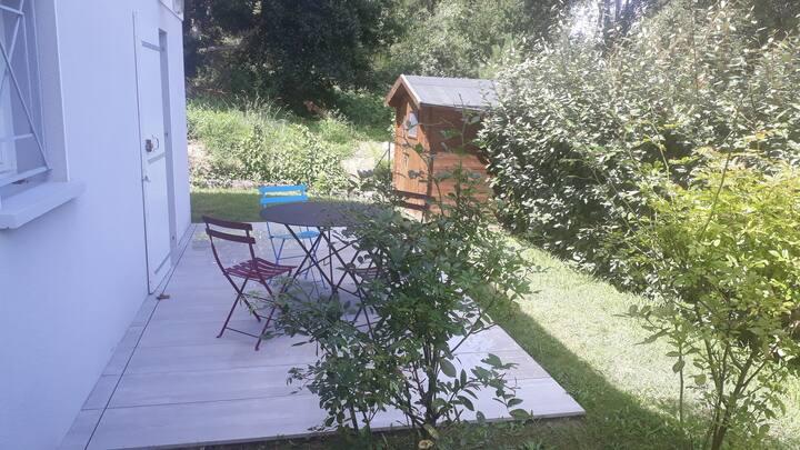 Studio TARNOS av jardin près plage-Anglet-Bayonne