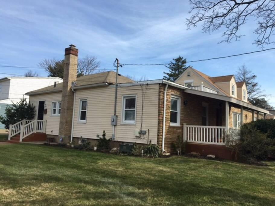 Corner property;  side of home, second entrance for homeowner.