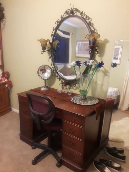 makeup table or desk