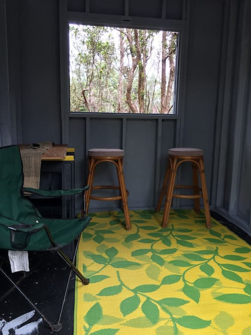 Bring you sleeping bag and gear. get out of the elements and get comfy in the Kailua cabin.