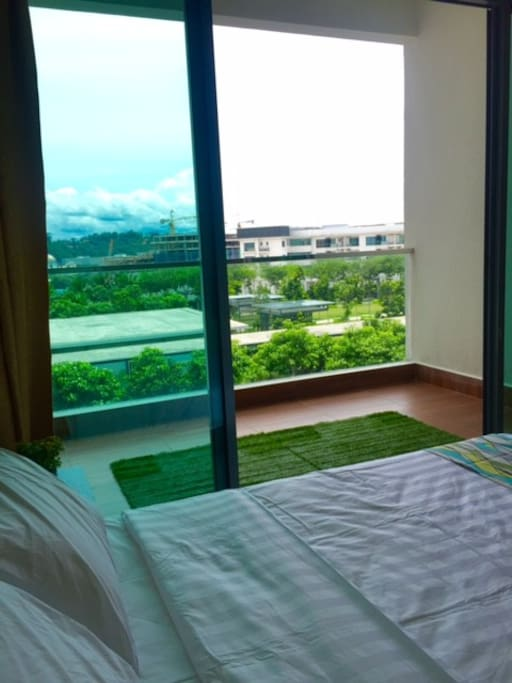Wake up to lush greenery right from the comfy beds