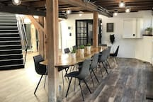 Enjoy our Co-working space on two levels below the apartment.