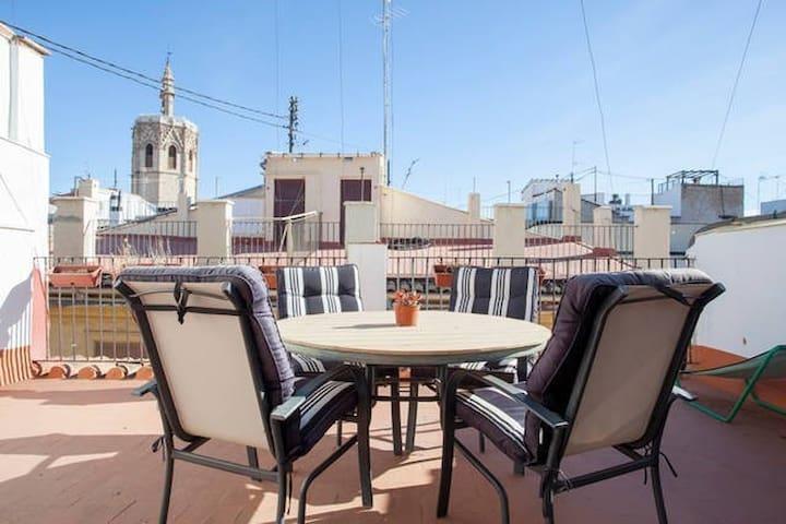 SUNNY PLAZA LA REINA/ WIFI / TERRACE - València - Appartement