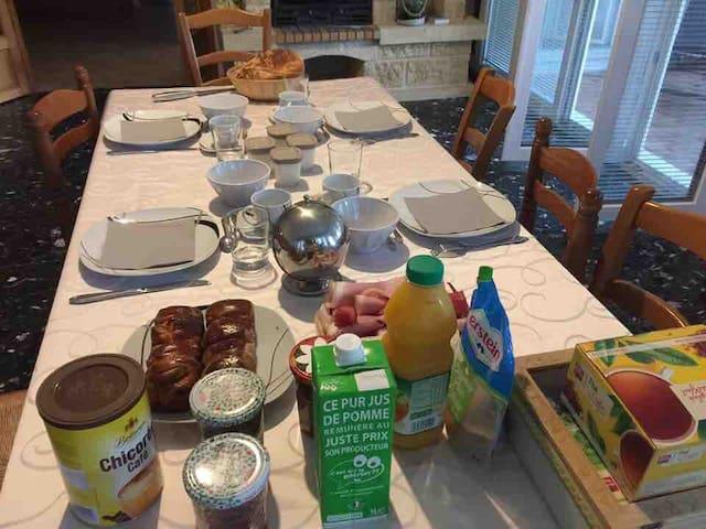 Exemple petits déjeuners