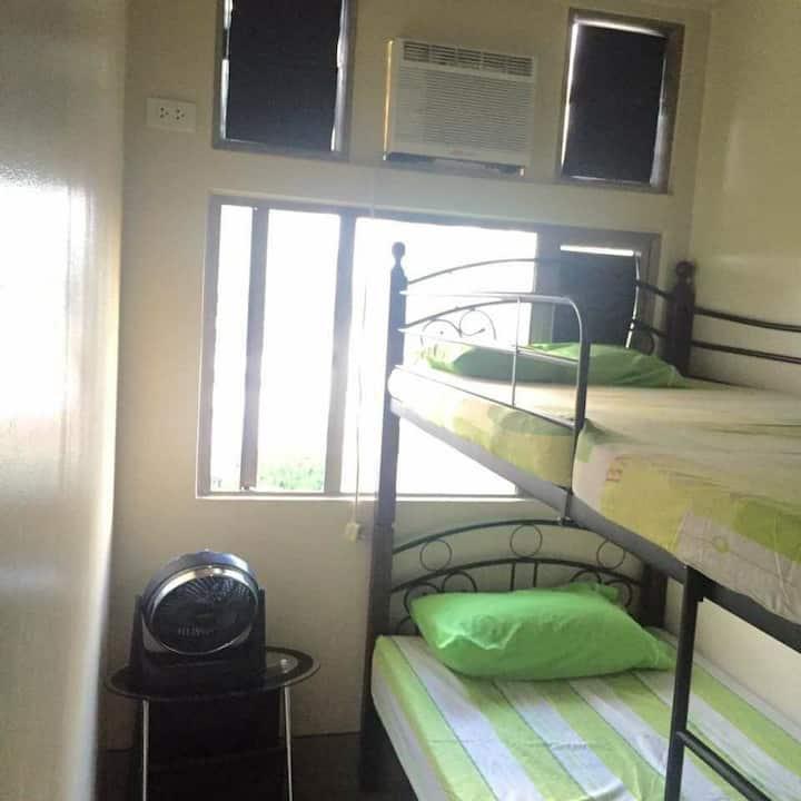 A two bedroom condo unit semi-furnished