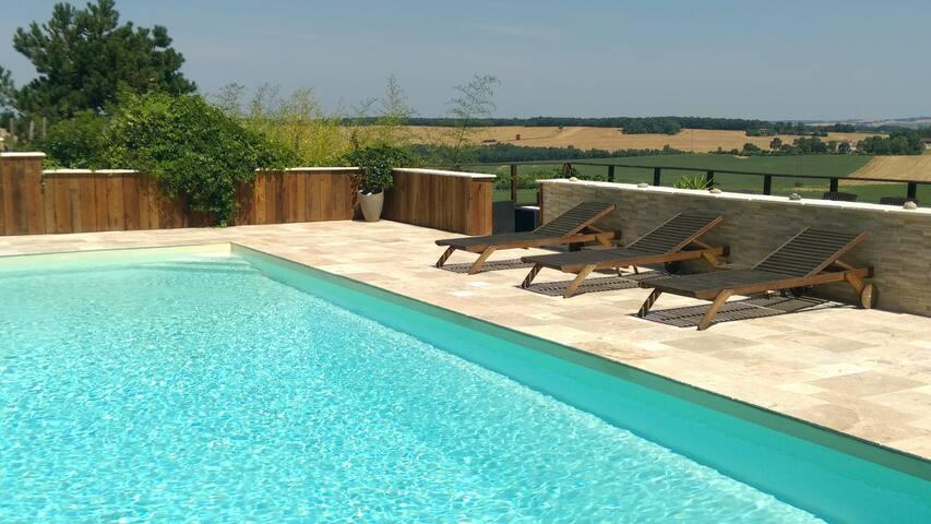 Maison et piscine coin de paradis!! - Leboulin