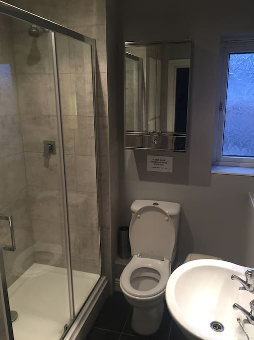 New fitted bathroom 2017 with spacious power shower
