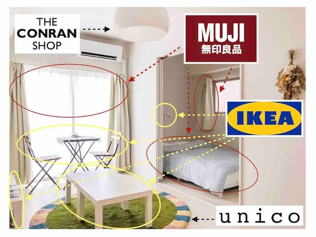 Max 8 ppl! Newly built cozy room! ☆Free WiFi☆
