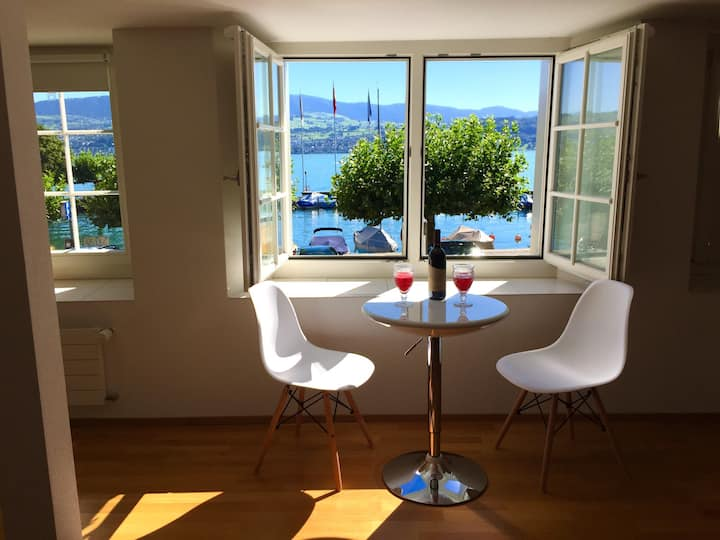 Lovely lakeview flat, near Zurich