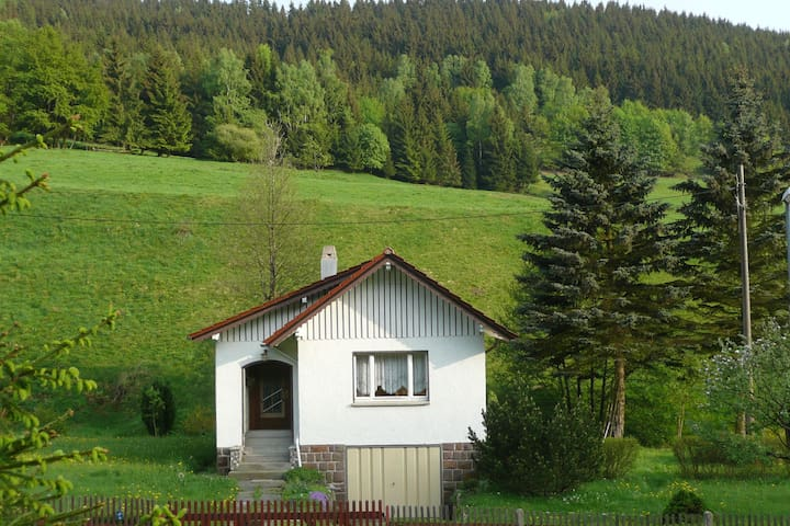 Detached holiday home situated by a stream in the heart of the Thuringian Forest