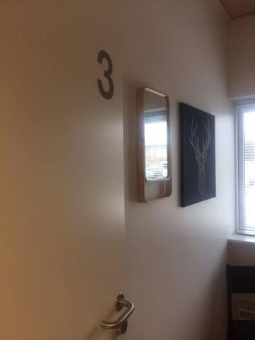 Alle værelserne er med egen lås.