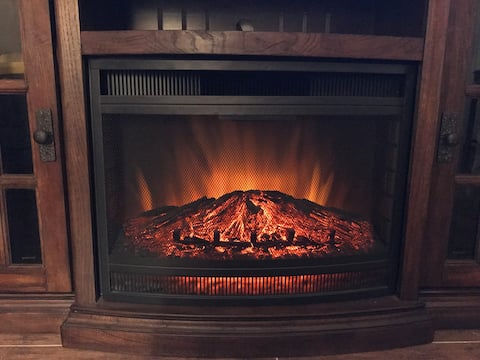 Mini house electric fire place.