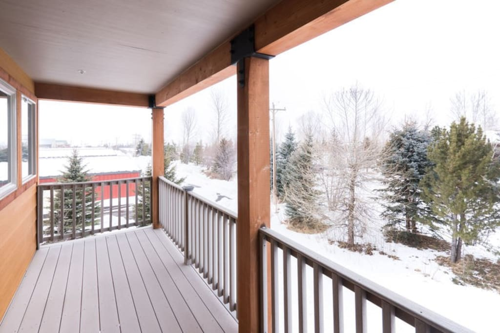 Enjoy the beautiful views from the private deck