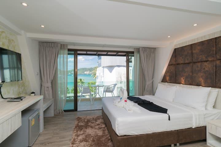 🌴Φ F Gorgeous stylish triple room/Ocean view Φ