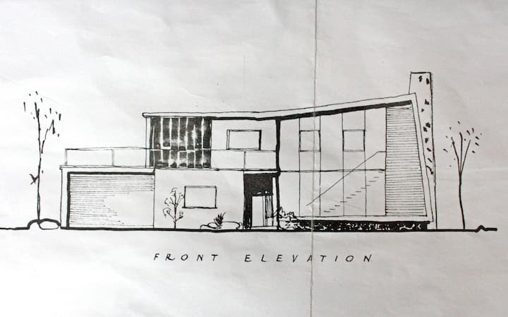 1950s Modernist House With Sea View