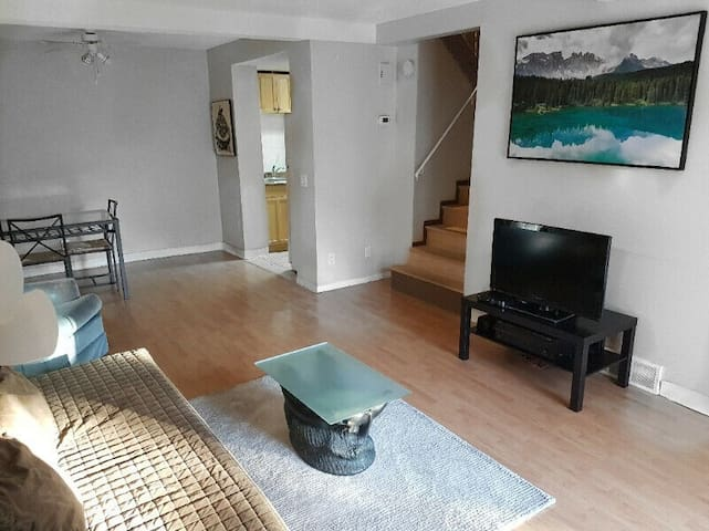 Large Furnished Two Bedroom Townhouse with Den