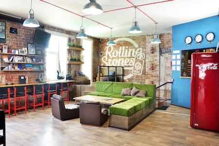 Rolling Stones hostel. Capsule 6-people dorm