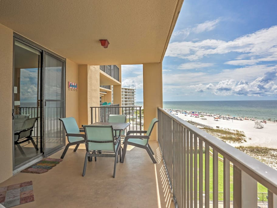 Enjoy picturesque ocean views from the private balcony.