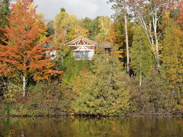 Hike, Bike or Swim at this Lake Cabin