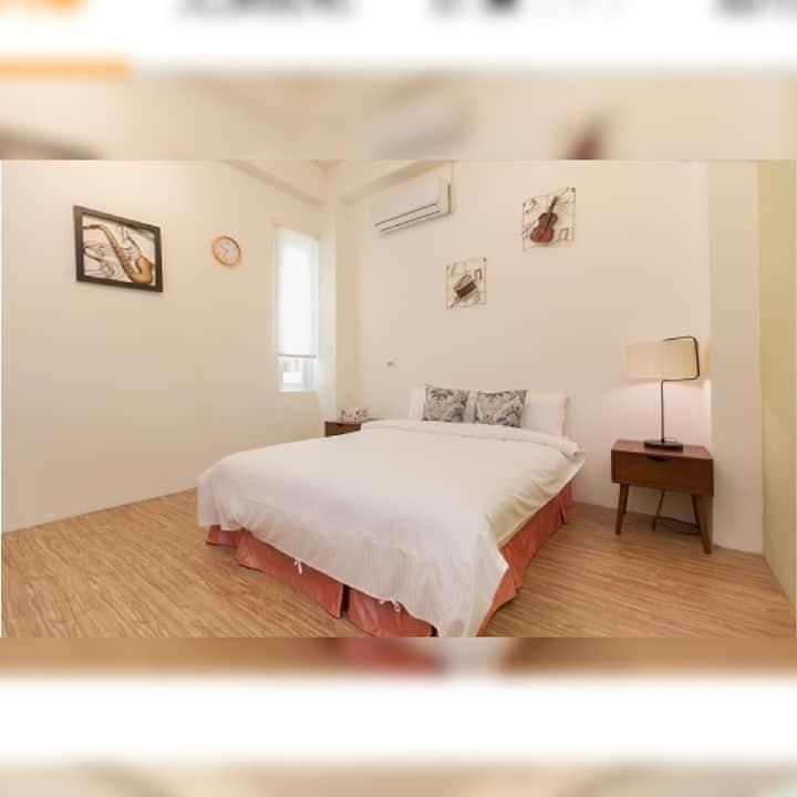 享海音樂2人套房(可付費加雙人床)