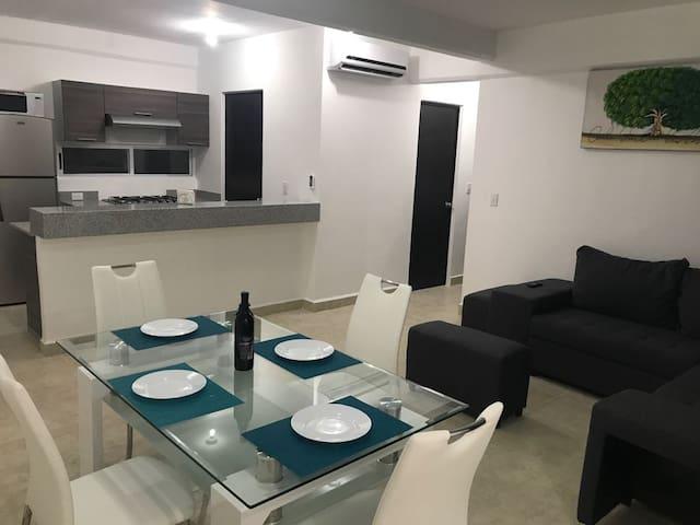Confortable departamento para familias y viajeros.