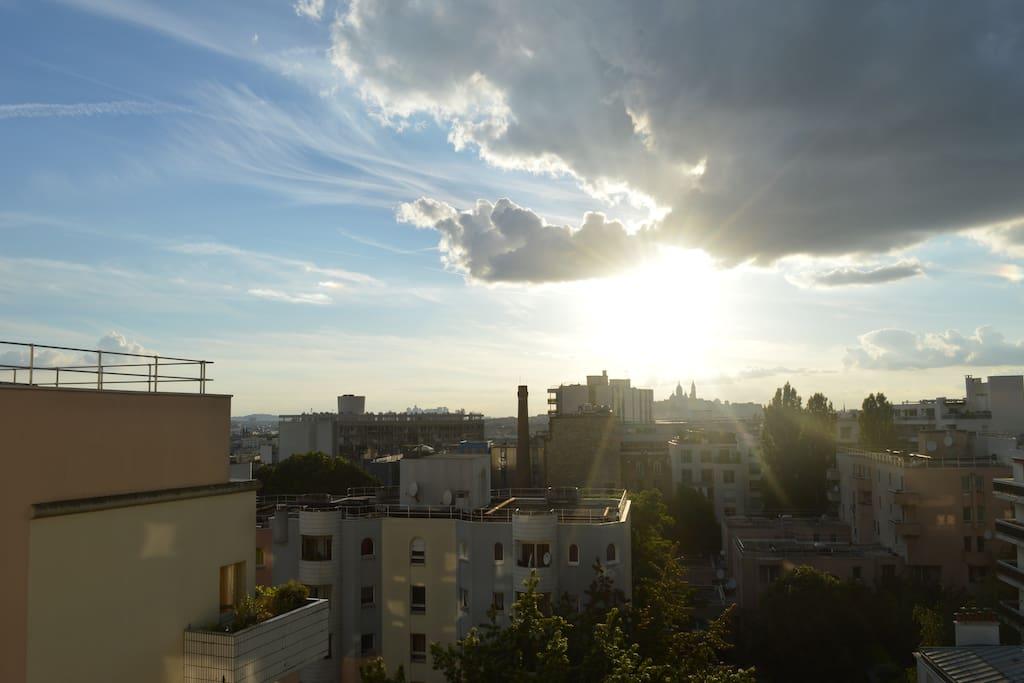 le ciel et l'horizon parisien