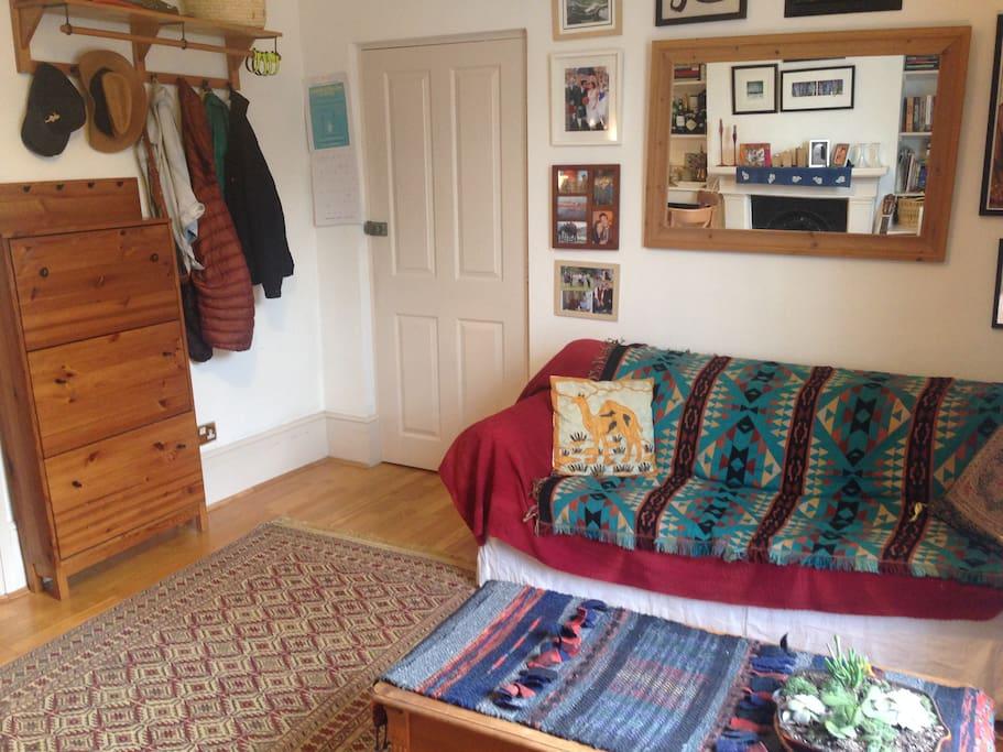 Sitting room and front door