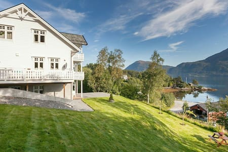 Ground floor flat with spectacular fjord views