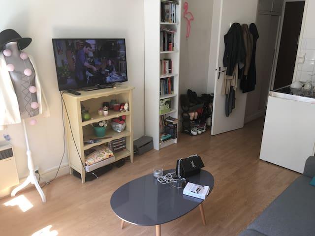 Studio équipé et idéalement situé dans le 13ème