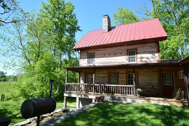 Circa 1792 restored log cabin