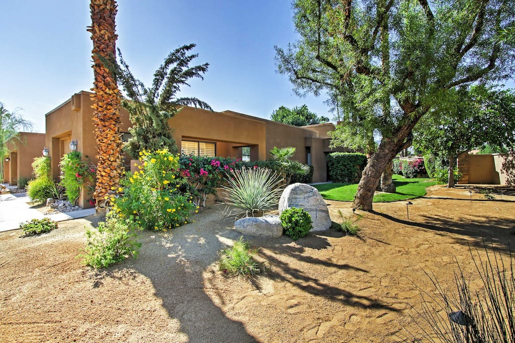Set in the Ironwood Country Club in Palm Desert is this vacation rental condo.