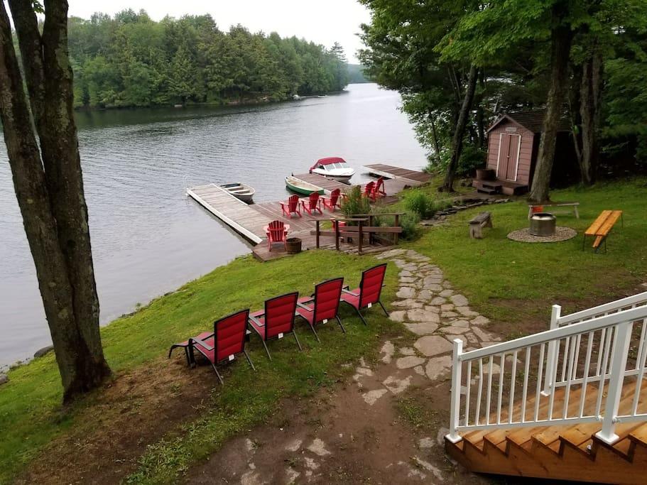 lake side of property