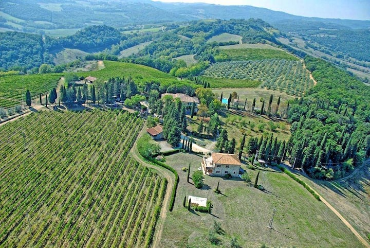 Vittoriana 1 - Country house with swimming pool in San Gimignano, Tuscany