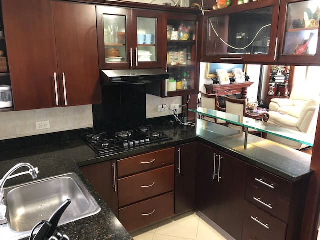 the kitchen with all amenities you would need.