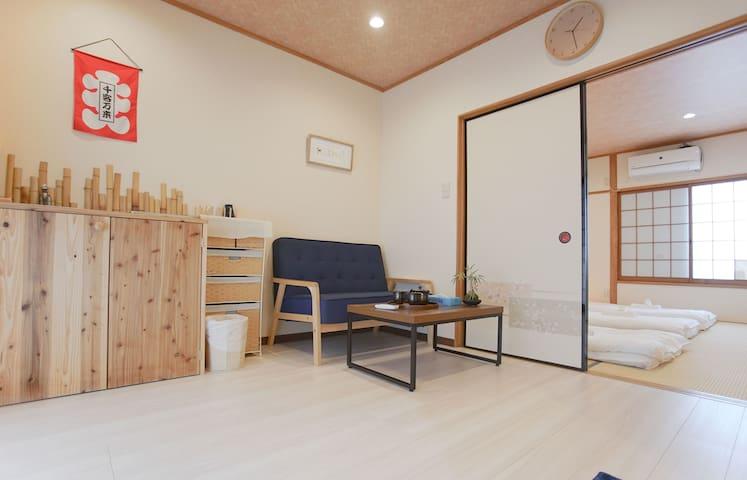 梅田唯美精致的日式一户建大床房和风茶室