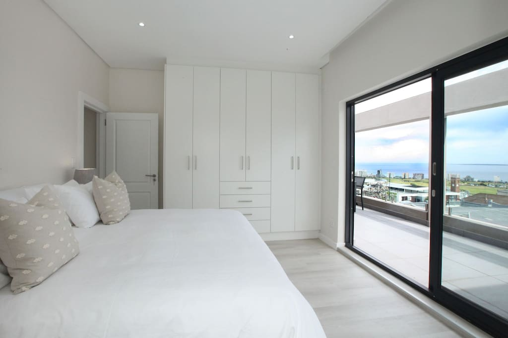 Main bedroom with breathtaking sea views