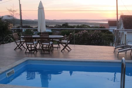 Luxury House Sea Views & Prívate Pool - Ferrol - Byhus