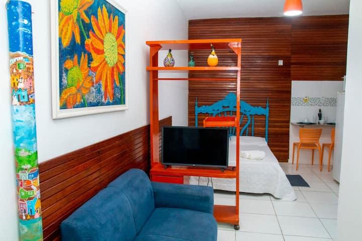 Studio simples e aconchegante no Farol da Barra!
